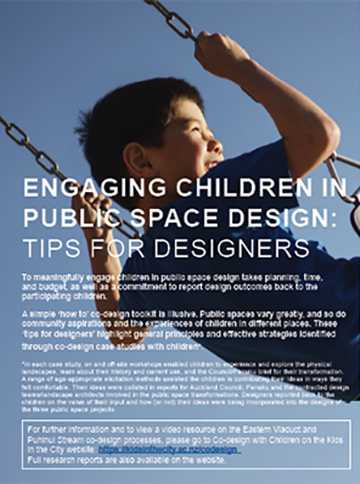 Engaging children in public space design