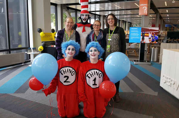 Waimakariri District Council staff dress as Dr Suess Characters